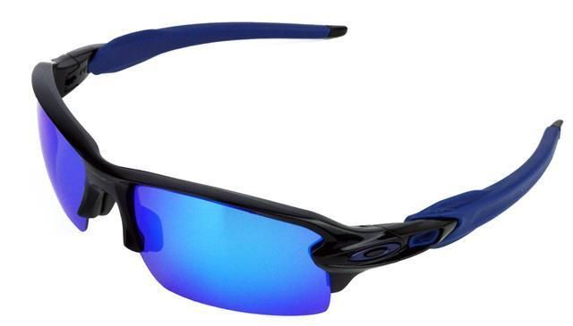 e303d1cbd7 NEW POLARIZED REPLACEMENT ICE BLUE LENS FOR OAKLEY FLAK JACKET 2.0  SUNGLASSES